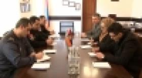 Deputy Police Chief receives the delegation of the OSCE/ODIHR Election Observation Mission