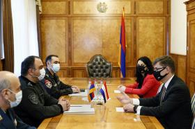 Vahe Ghazaryan receives the Ambassador Extraordinary and Plenipotentiary of the Kingdom of the Netherlands to Armenia